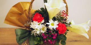 Lily, Carnation, Mum & Scotch Broom