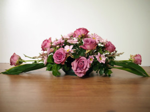 Purple Rose Table Arrangement