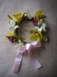 Flower Girl Orchid Headpiece