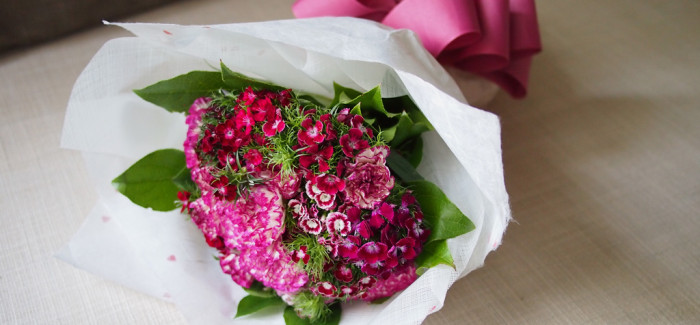 Carnation and Dianthus Bouquet